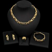 #76 HUGS & KISSES Xo Set Necklace bracelet Earrings Ring 18k Layered Real GF