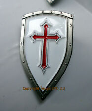 ZP383 Knights Templar Shield Crusader St George Crusade Cross Pin Badge Medieval