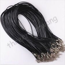 10 pcs Lots Charms Real Leather Cord Chain Necklace with Lobster Clasp