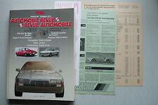 Automobil Revue Katalog-Nummer 1986 Jahresausgabe mit Beilagen/Preisliste