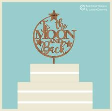 To the MOON and Back - Wooden Cake Topper, Weddings, Engagement