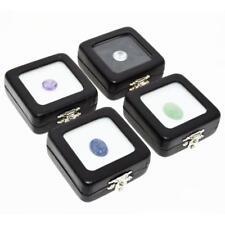 AU STOCK 4xHigh Quality Glass Top GemBox (5.4x5.4cm) Gemstones Jewellery Display