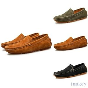 Plus Size Mens Casual Gommino Driving Shoes Moccasin Non-slip Penny Shoes Loafer