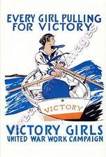 VICTORY GIRLS United War Work Campaign World War I Unused  Post Card