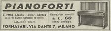 Y3141 Pianoforti FORNASARI - Pubblicità del 1939 - Old advertising
