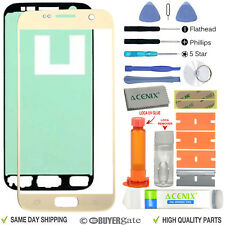 Samsung Galaxy S7 Replacement Screen Front Glass Outer lens Repair Kit GOLD UK