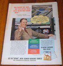 1940 CAMEL CIGARETTE AD~WILLIAM BILL MILLER~AMERICAN AIRLINES FLIGHT NAVIGATOR