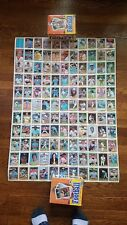 1981 Donruss Baseball Complete Set of 5 Uncut Sheets - Sharp! Tim Raines RC