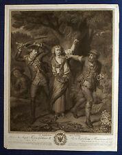 RETTUNG vor den Räubern grosser Kupferstich von Wille 1790 dekoratives Original!