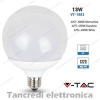 Lampadina led V-TAC 13W = 75W E27 VT-1883 G120 globo lampada lampadine SMD bulbo