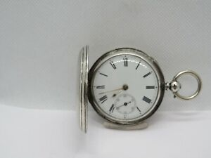 1873 Fusee Full Hunter pocket watch solid silver very good condition and working
