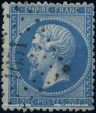 FRANCE EMPIRE N° 22 OBLITERATION PC 1651 LARCEVEAU BASSES PYRENEES COTE 71.25€