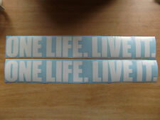 """ONE LIFE LIVE IT"" vinyl decals x2 - landrover discovery 4x4 offroad stickers"