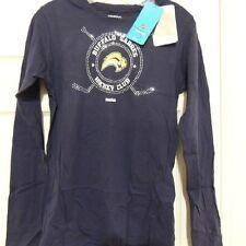 NHL Reebok Buffalo Sabres Long Sleeve Hockey Shirt New Womens LARGE MSRP $30