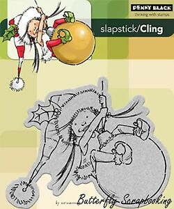 Little Elf Mim Christmas Cling Unmounted Rubber Stamp PENNY BLACK 40-089 New