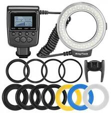 Neewer 48 Macro LED Ring Flash Bundle with LCD Display Power Control, Adapter R
