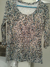 LIVE GREEN MADISON Women's Top Sz  MED ,MULTI COLORS TOP pre owned