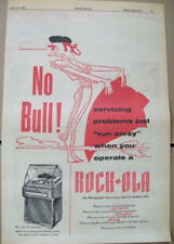 Rock-ola 200 120 50 selection phonograph 1957 Ad- no bull!  matador