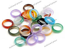 10PCS Wholesale Mixed Lots Fashion Ladies Multicolour Band Agate Rings Jewelry