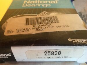 National Bearings 25820 Frt Outer Race