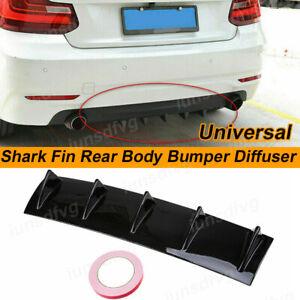 Carbon Fiber Rear Lower Bumper Diffuser 5Fin Spoiler Lip Wing Splitter Universal