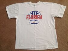 NIKE Team FLORIDA GATORS Basketball White Practice Shirt LARGE Sweet 16 Madness
