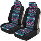 Black Cheetah Print Car Seat Covers Front Seats Universal Fit Auto Truck Van Suv