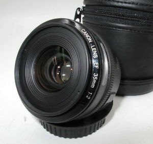 *BEAUTY* CANON EF 35MM F2 FAST AF WIDE ANGLE PRIME LENS. EXCELLENT COND.