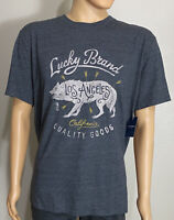 """NWT Lucky Brand Men's T-Shirt Front Design """"Los Angeles"""" Gray Size XL"""