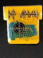 Collectible Vintage Def Leppard Band Colorful Metal Pinback Hat Pin Lapel Pin