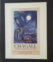 "Marc Chagall ""Saint Jean Cap Ferrat""  Mourlot  Poster offset Lithograph "" 1975"