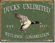 "Ducks Unlimited Since 1937 Vintage Retro Style Metal Tin Sign 16""W x 12.5""H New"