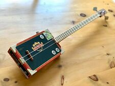 More details for cigar box bass guitar punch box 2 string electro acoustic volume