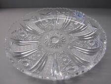 edle BLEIKRISTALL SCHALE Kristall Glas Obstschale Gebäck- Kuchen- Teller Platte
