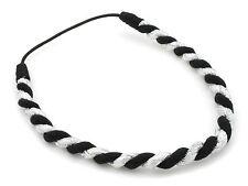 Zest chunky twist bandeau cheveux accessoire argent & noir