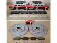 FOR VAUXHALL ASTRA J GTC VXR FRONT REAR DRILLED BRAKE DISC DISCS BREMBO PADS SET