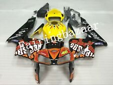Fit for CBR600RR 2005 2006 Rossi Repsol Yellow Orange ABS Injection Fairing Kit