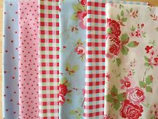 Cath Kidston Remnant Fabric Pieces Layer Cake Patchwork Quilting Squares (12!)