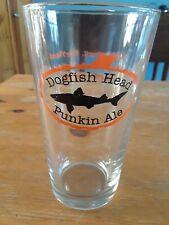 DOGFISH HEAD PUNKIN ALE pint glass - 16oz glass pumpkin beer mug Alehouse