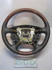 2003-2006 Acura MDX Factory Optional Wooden Steering Wheel Black Rare OEM JDM