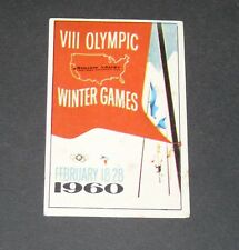 280 1960 SQUAW VALLEY PANINI OLYMPIA 1896-1972 JEUX OLYMPIQUES OLYMPIC GAMES