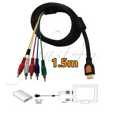 1.5m HDMI to 5 RCA RGB Converter Adapter Component HDTV Video Audio AV Cable