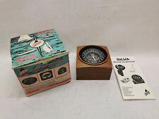 Vintage Silva Marinekompass Modell 33/TRS Festeinbau mit Holzgebäuse Neu & ovp
