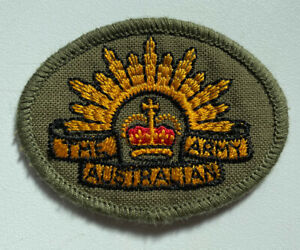 Australian Army Rising Sun Insignia Round Uniform Patch Surplus