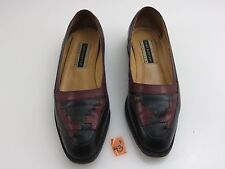 Hush Puppies Casuals Pyramid Flats Loafers Oxfords Shoes Black Burgundy Sz 7.5M