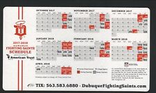 Dubuque Fighting Saints--2017-18 Magnet Schedule--American Trust--USHL