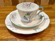 Rare Jackson Gosling Ye Old English Bird Cup And Saucer, Art Deco Cabinet Cup