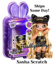 Series 3 Na Na Na Surprise Sasha Scratch Kitty 2 In 1 Fashion Doll Plush Purse