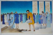 Gouache Aquarelle Scène Religieuse Jésus Christ PIERRE-HENRI BOUSSARD Sard #13