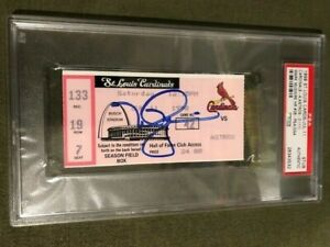 Mark McGwire Autographed Ticket PSA/DNA 1998 Season HR #38 Cardinals vs Astros